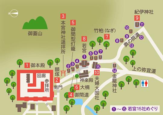 境内マップ(御本殿〜紀伊神社)